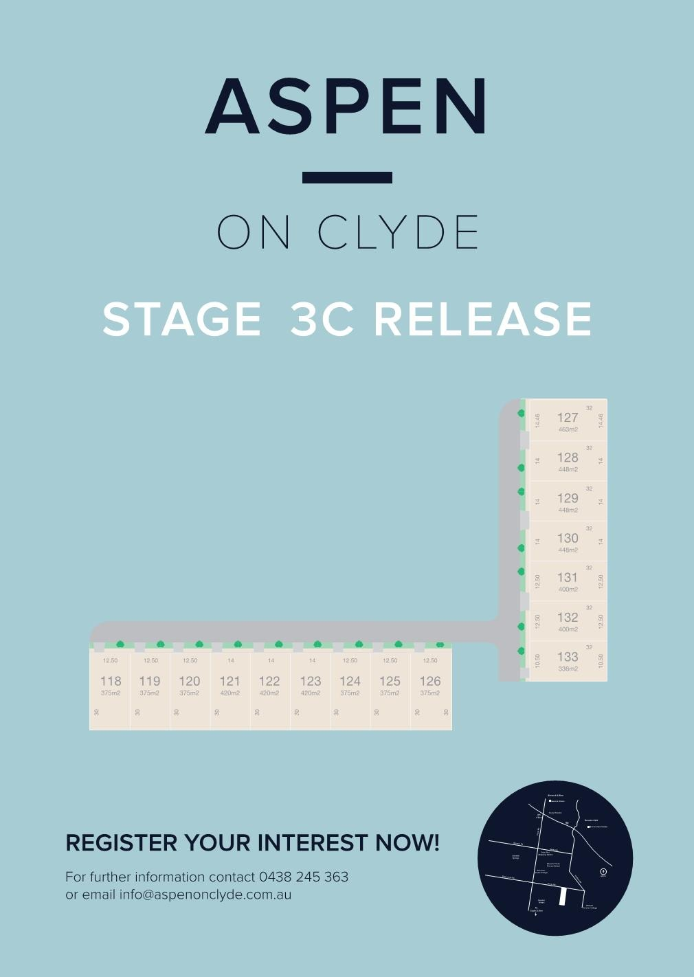STAGE 3C RELEASE - 02/02/2019We released our latest Stage today. These Lots are primarily North and West facing. For more information about prices and inclusions contact our office.
