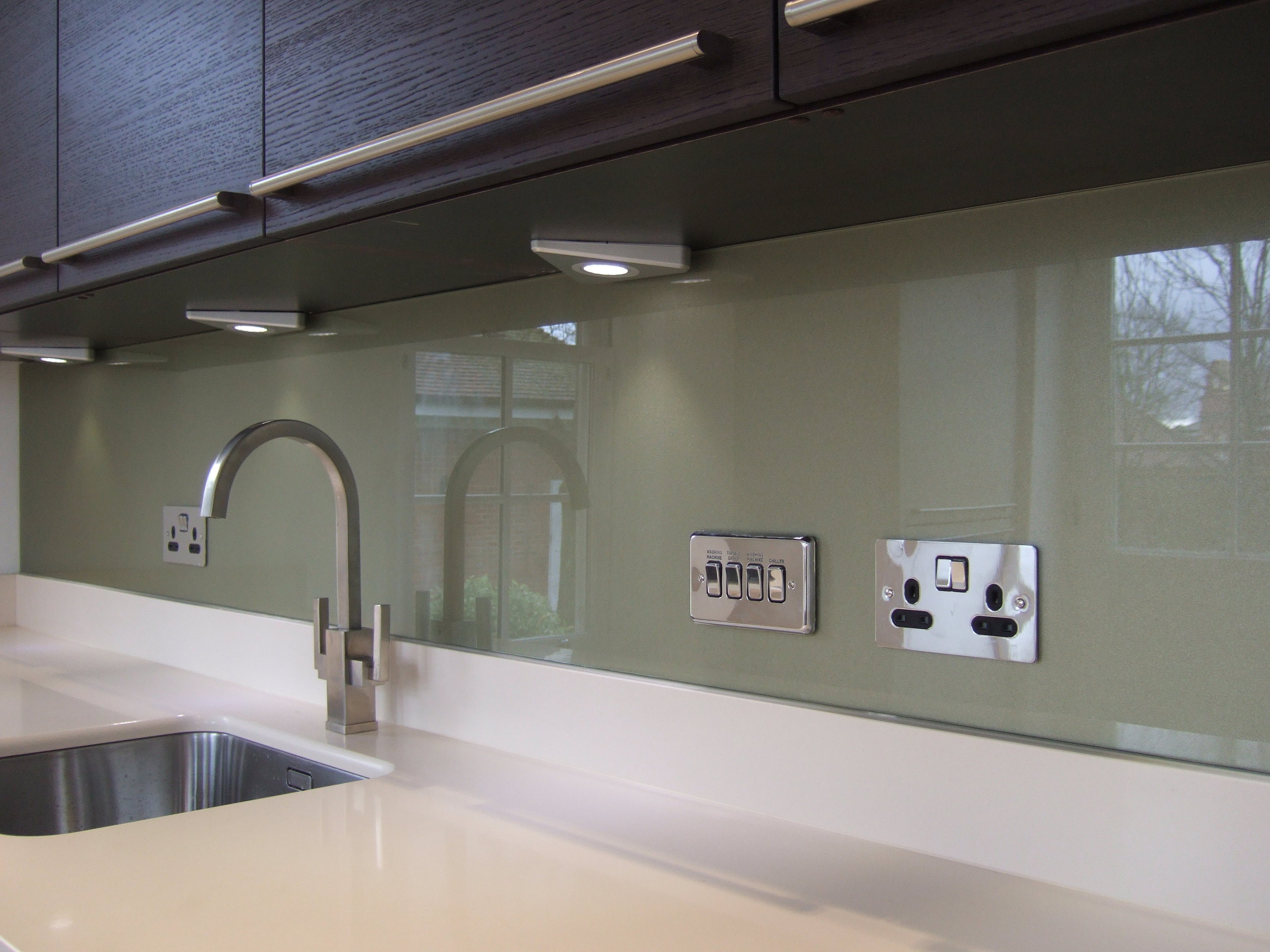 Glass splashbacks - Greens