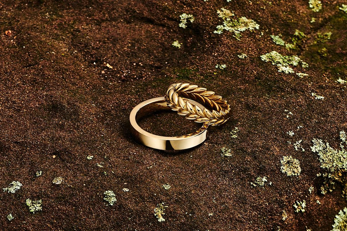 Futura 18kt Farimined Ecological gold unisex wedding bands