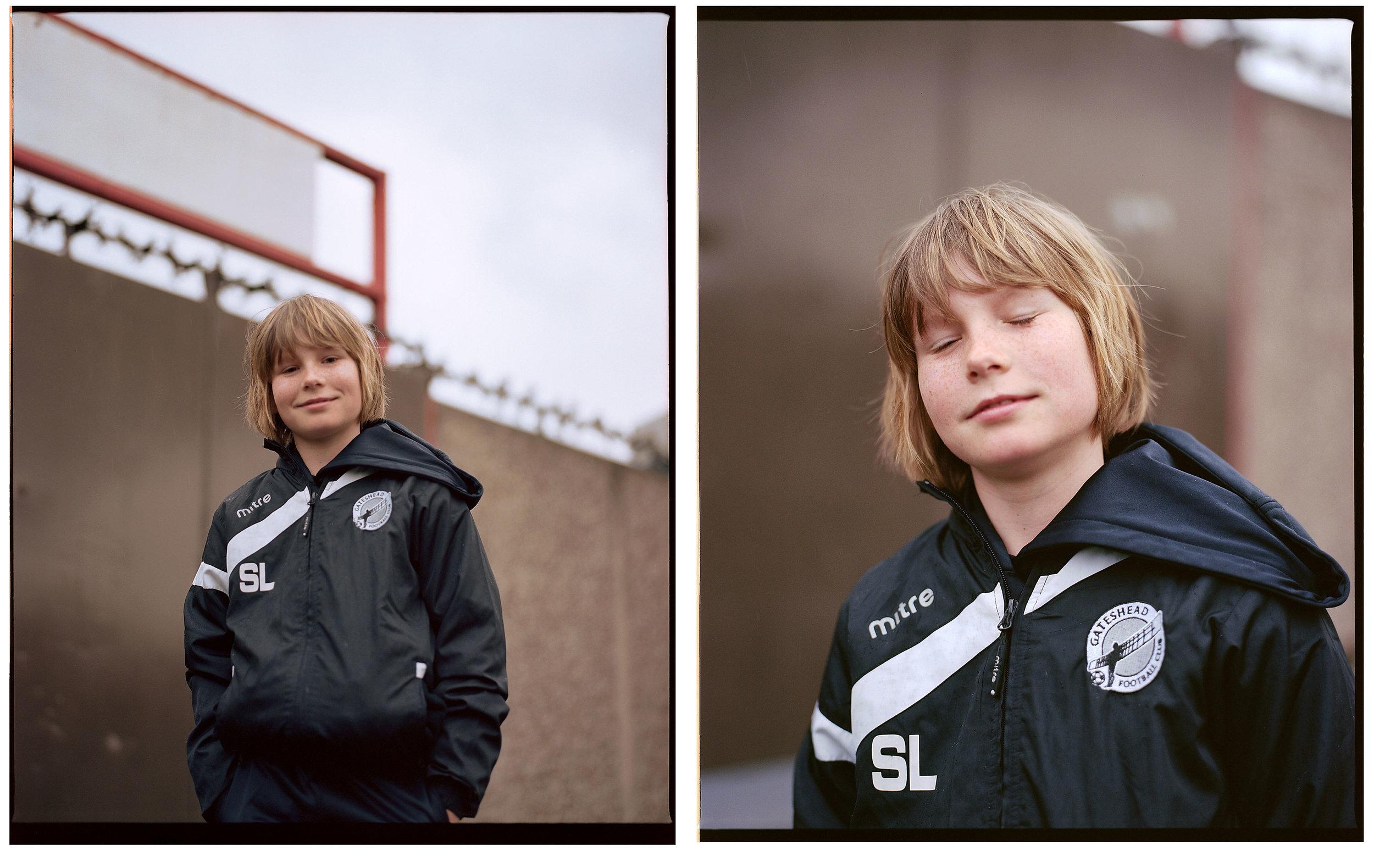 A young Gateshead fan