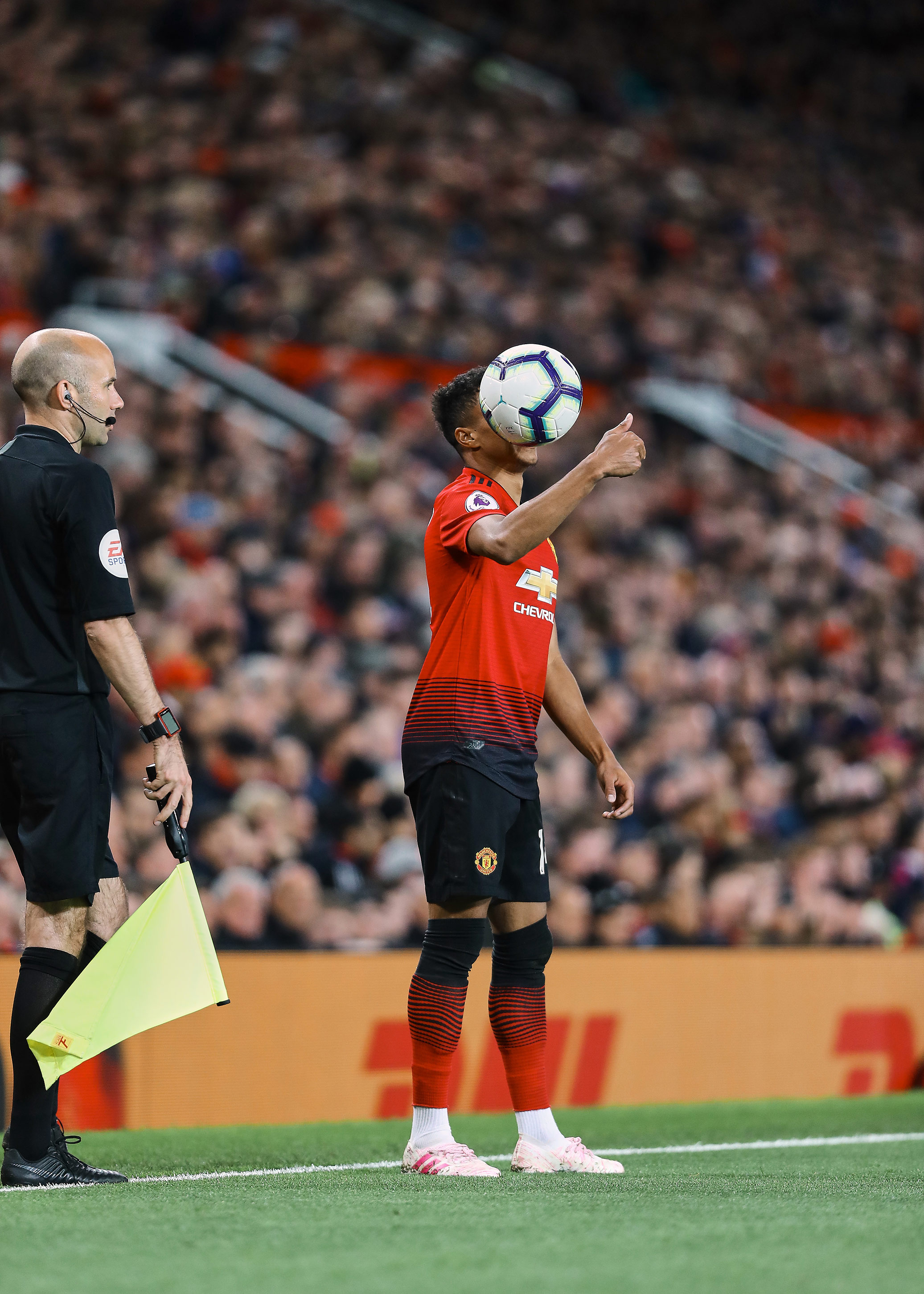 Jessie Lingard during the Manchester Derby. Shot for Soccerbible