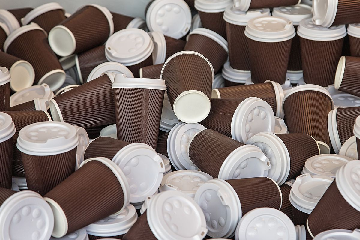 2.5 Billion cups are being thrown away every year. (Image Source: Acre)