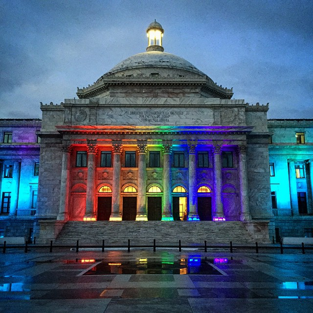The Capitol of Puerto Rico on the day Marriage Equality became the law of the land.