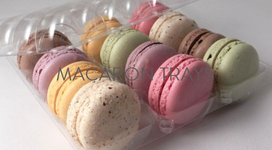 macaron trays and plastic inserts