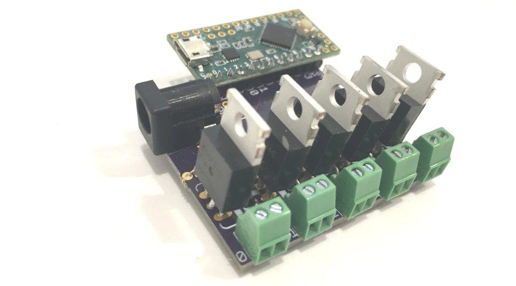 MIDI Controlled Motor Driver board