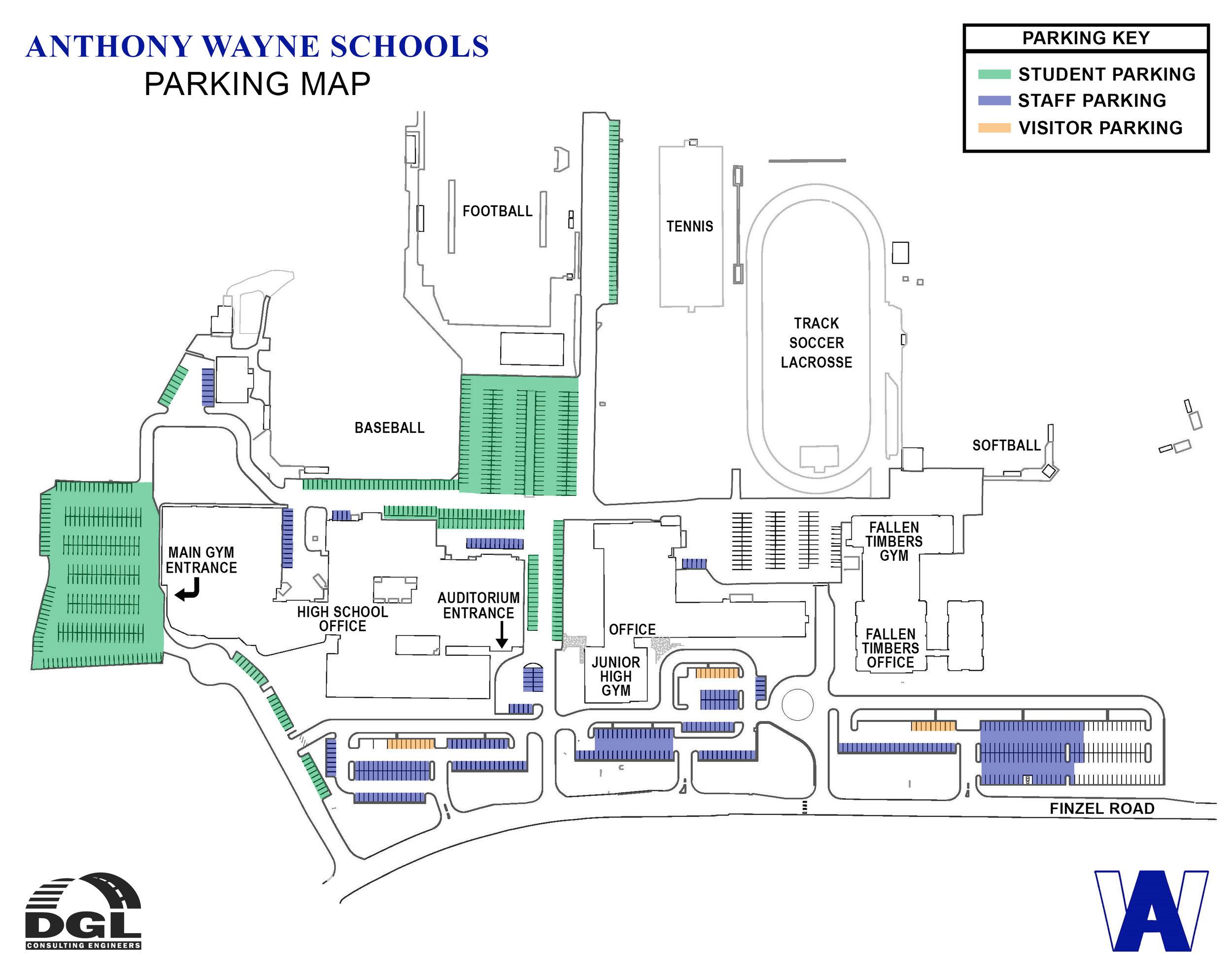 Anthony Wayne Schools Parking Map