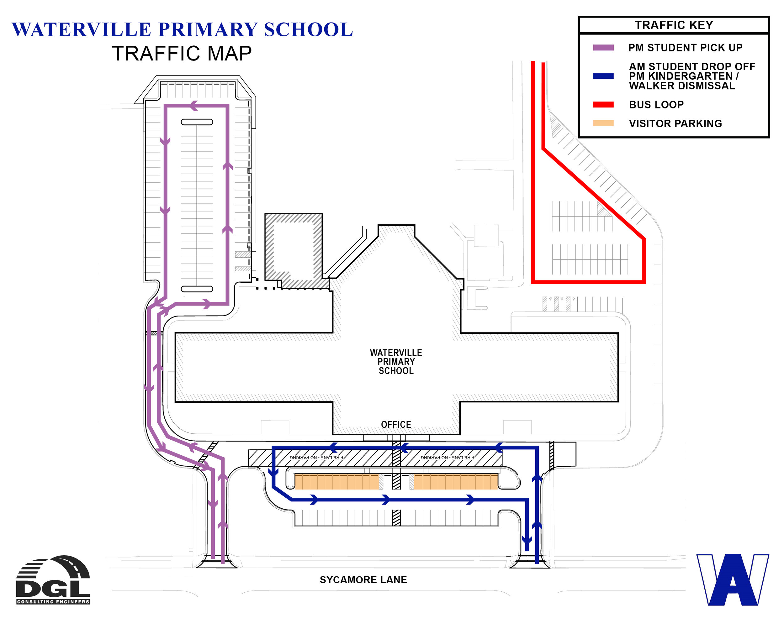 Waterville Primary School Traffic Map