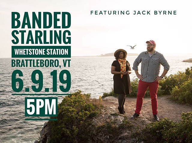 @whetstonestation will be filled with Banded Starling tunes this Sunday and @jackbyrnemusic is joining forces with us for sweet harmonies and his very own electric licks! . . . . #whetstonestation #brattleborovt  #vermontmusic  #newenglandmusic  #trio  #indiemusic  #folkmusic