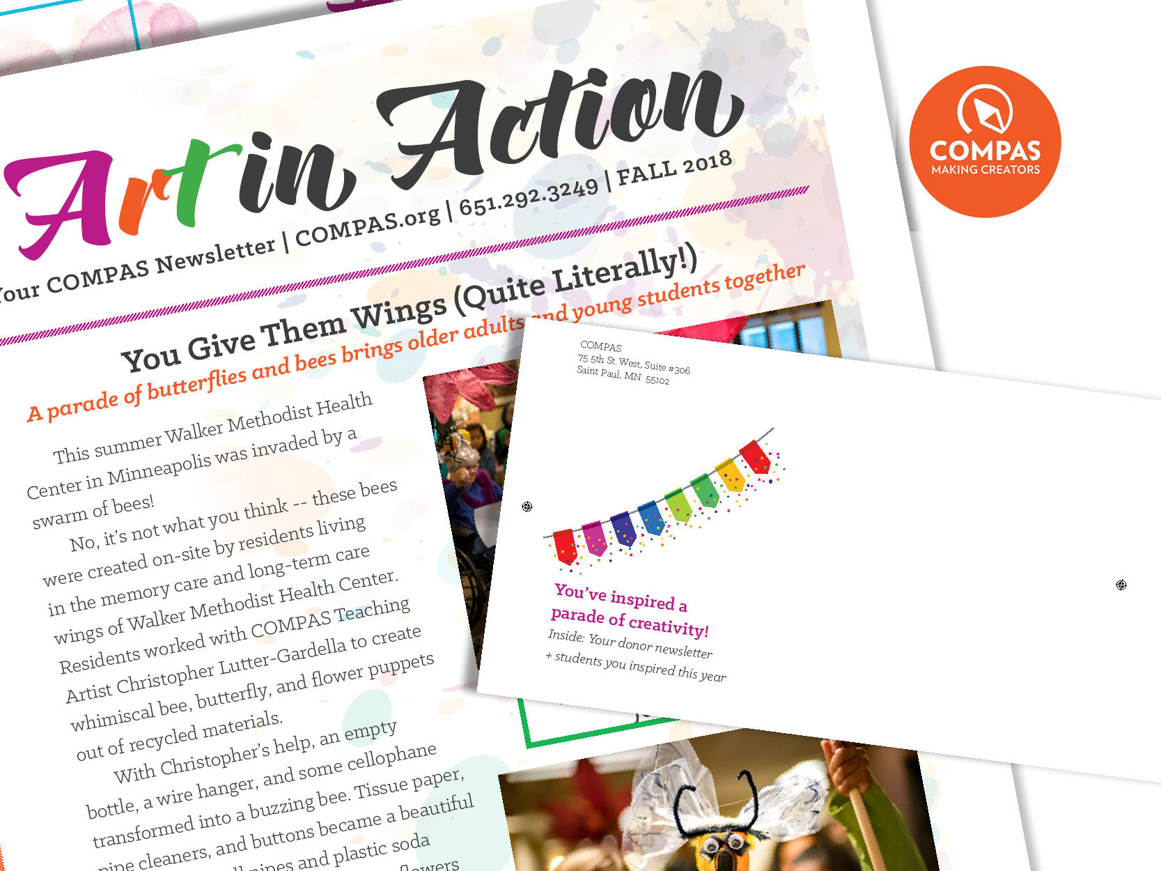 COMPASDonor Newsletters - Strategy, copy, and designDid you know that a well-executed donor newsletter can raise as much (even more) than an appeal letter?I create the strategy, copy, and design for donor newsletters that inform and delight your donors — and encourage them to give.