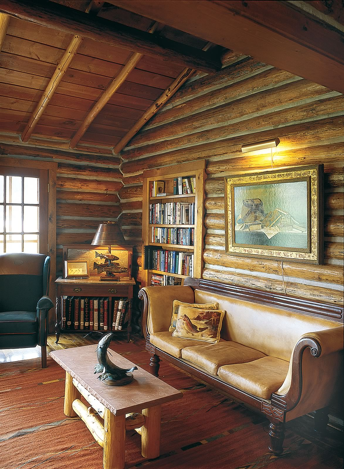 The library area in the Lodge