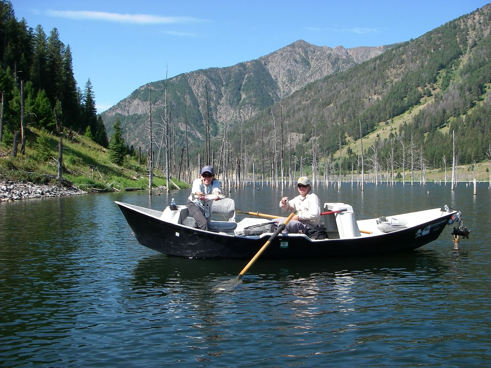 Float fishing on Quake Lake.