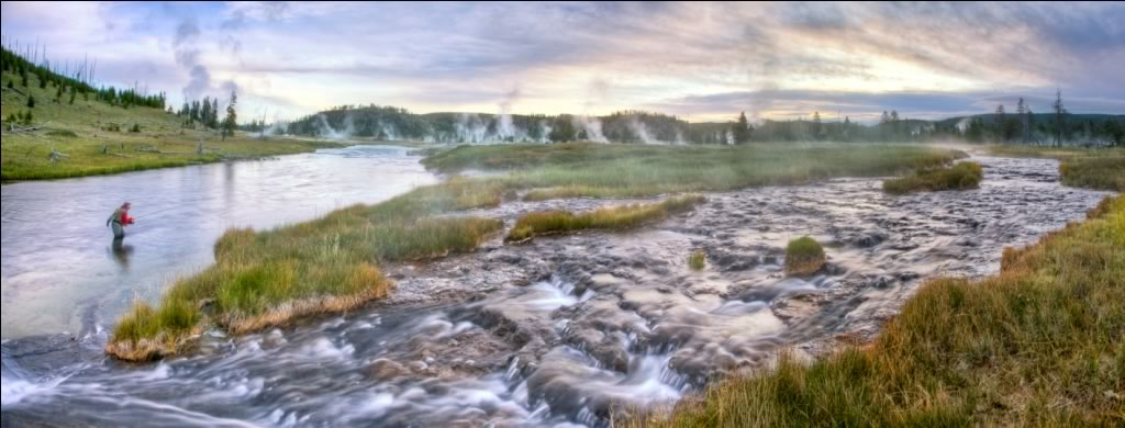 The Firehole River in Yellowstone National Park