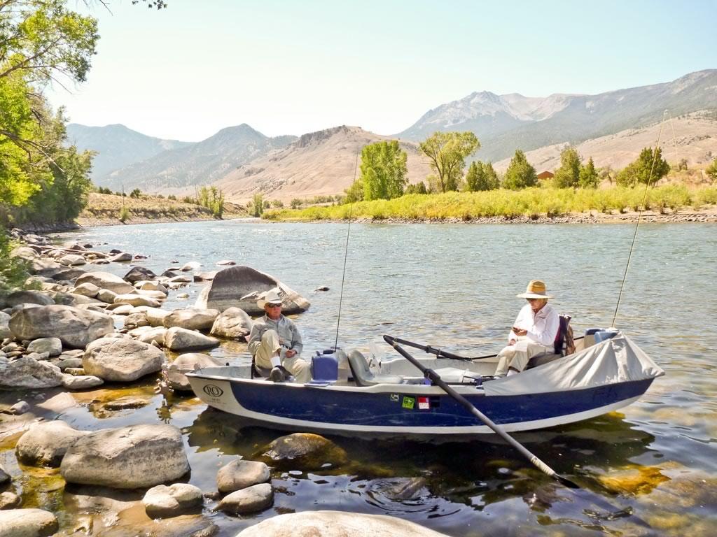 Taking a break on the river.