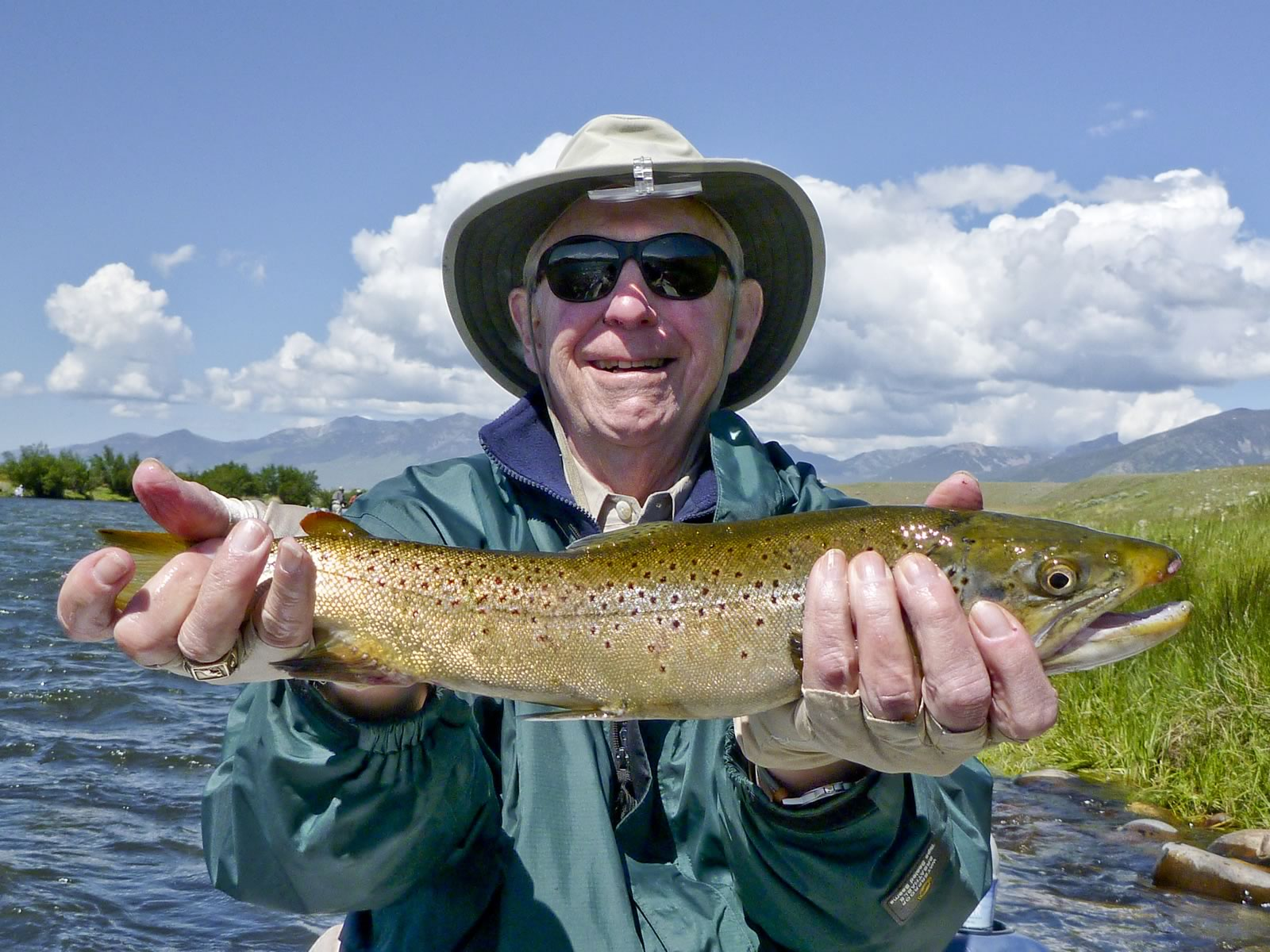 A happy guest with a beautiful brown.