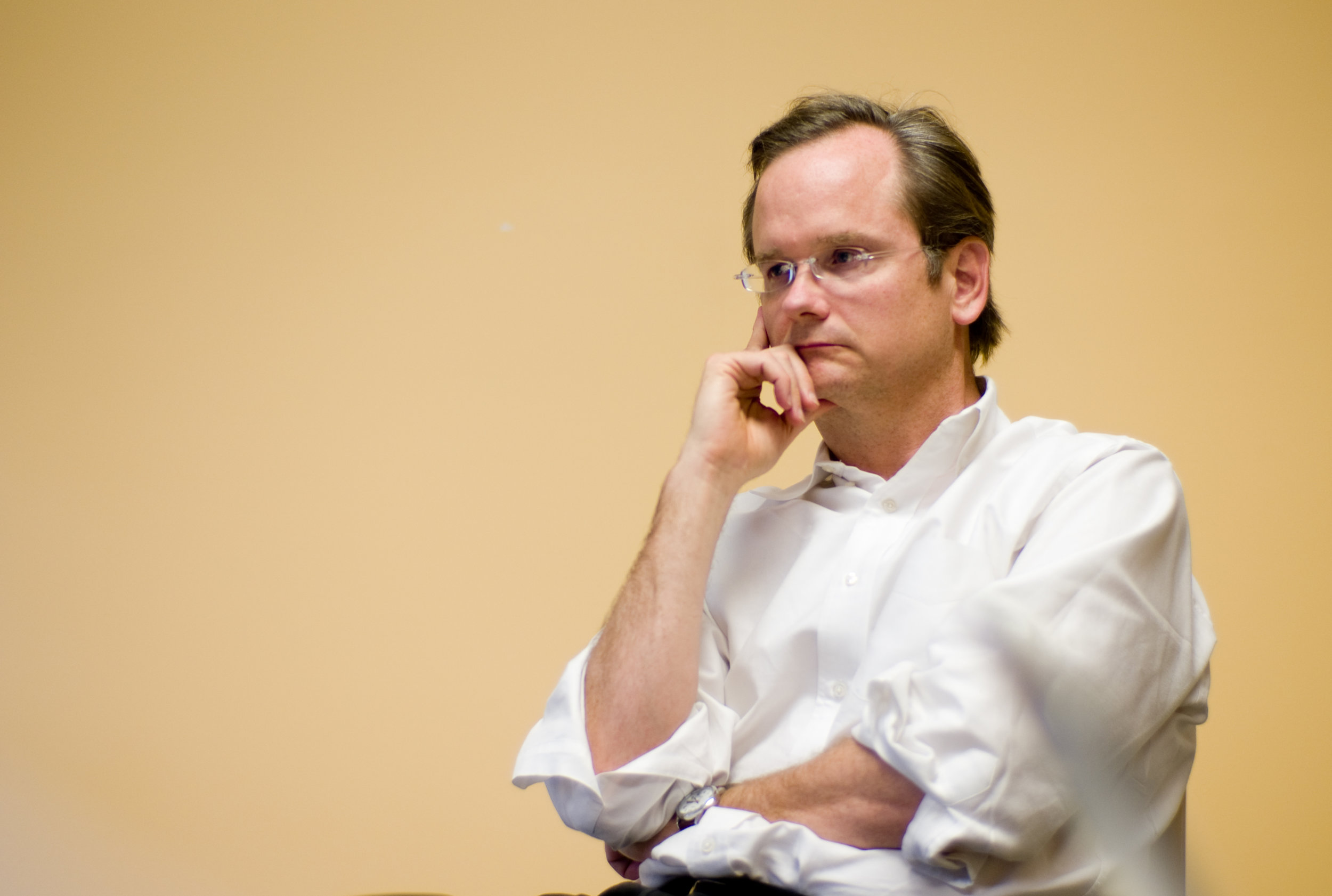 """Dr. Lessig's foundational work """"The Laws of Cyberspace"""" was published 20 years ago."""