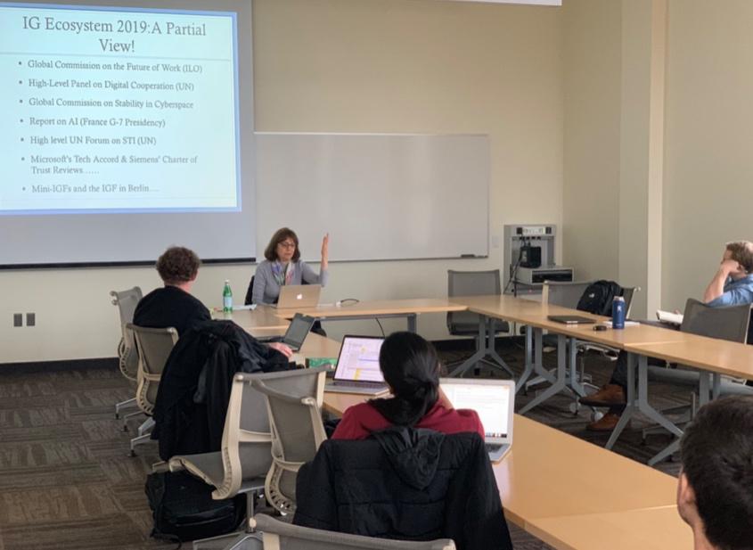 Dr. Nanette Levinson presents her work at the 2019 IGL Speaker Series. (Photo Credit: Dr. Derrick Cogburn)