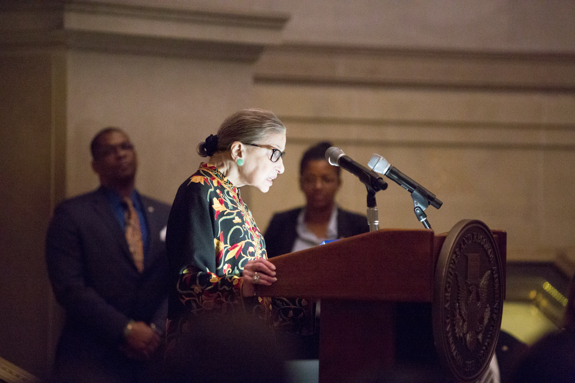 Ruth Bader Ginsberg, who participated in a conversation session at the event.