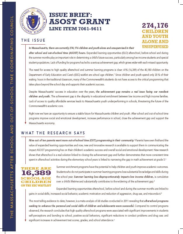 ASOST-Q Grant Issue Brief 2014 -