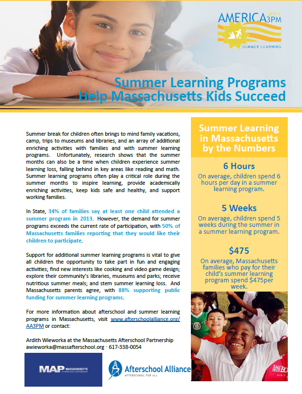 Summer Learning in MA Fact Sheet -