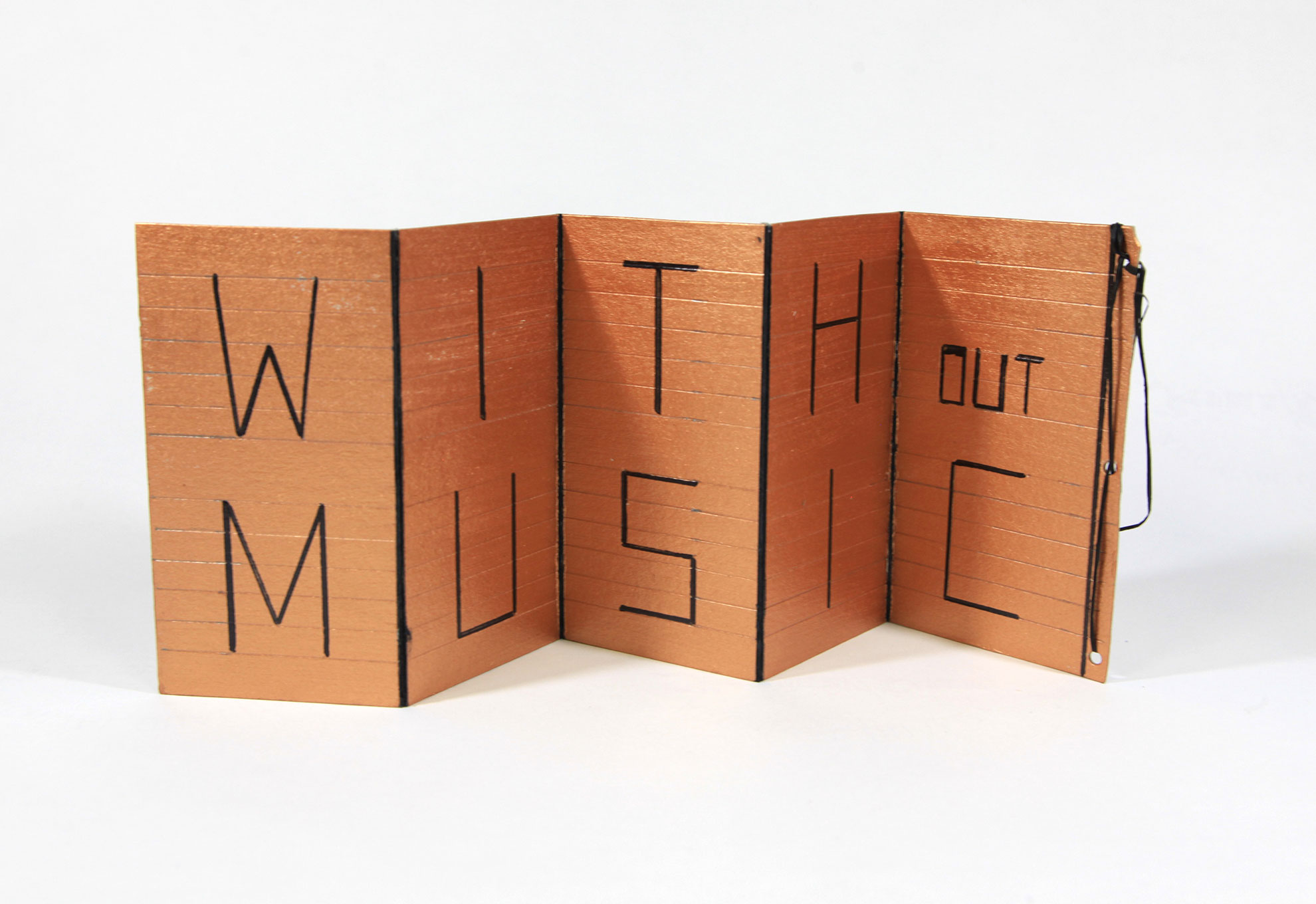 Heike Berl, Without Music Life Would be a Mistake (Friedrich Nietzsche), Acrylic, edding, bast and cardboard, 2018, NFS, Dresden, Germany