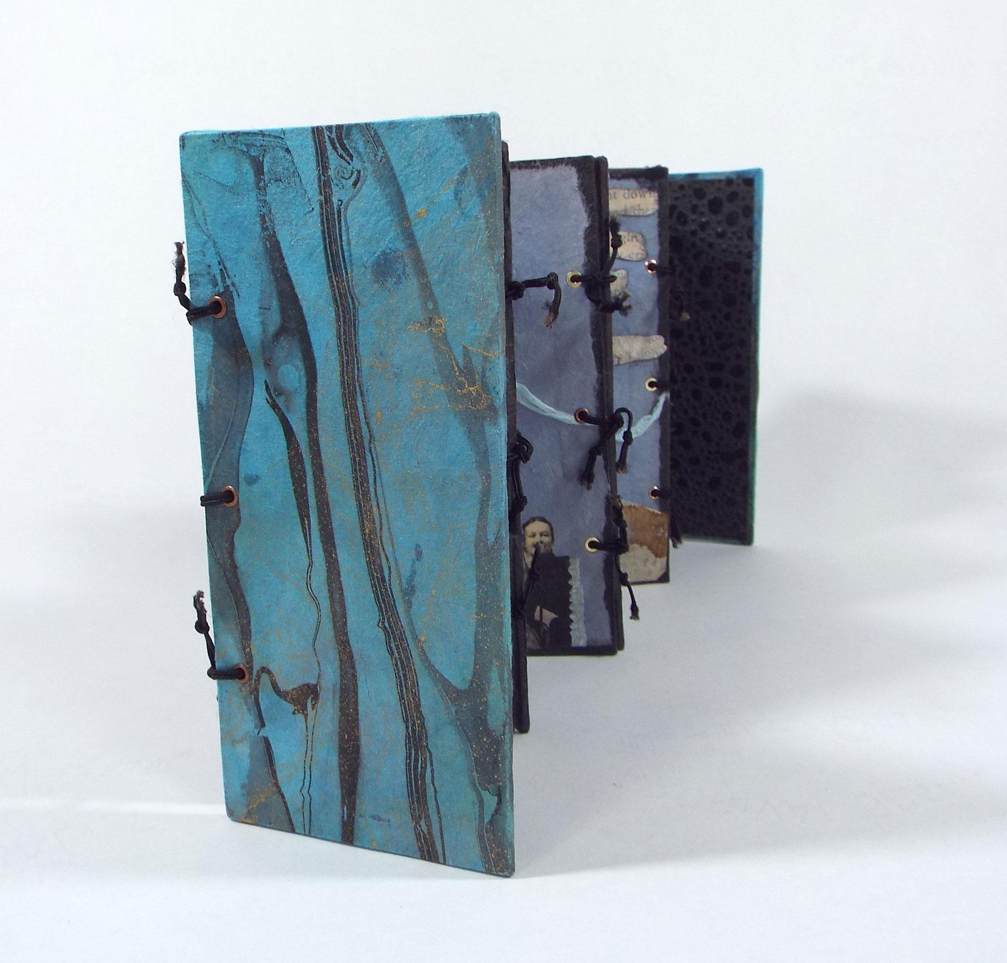 DJ Gaskin, Blue Days, Blue Nights, Mixed media artist's book, 2015, $300, Saluda, NC