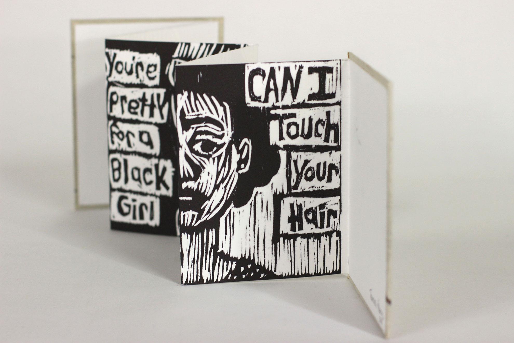 Tamara Harris, You don't Act Black, Printmaking/Ink, 2018, $100, South Bend, IN