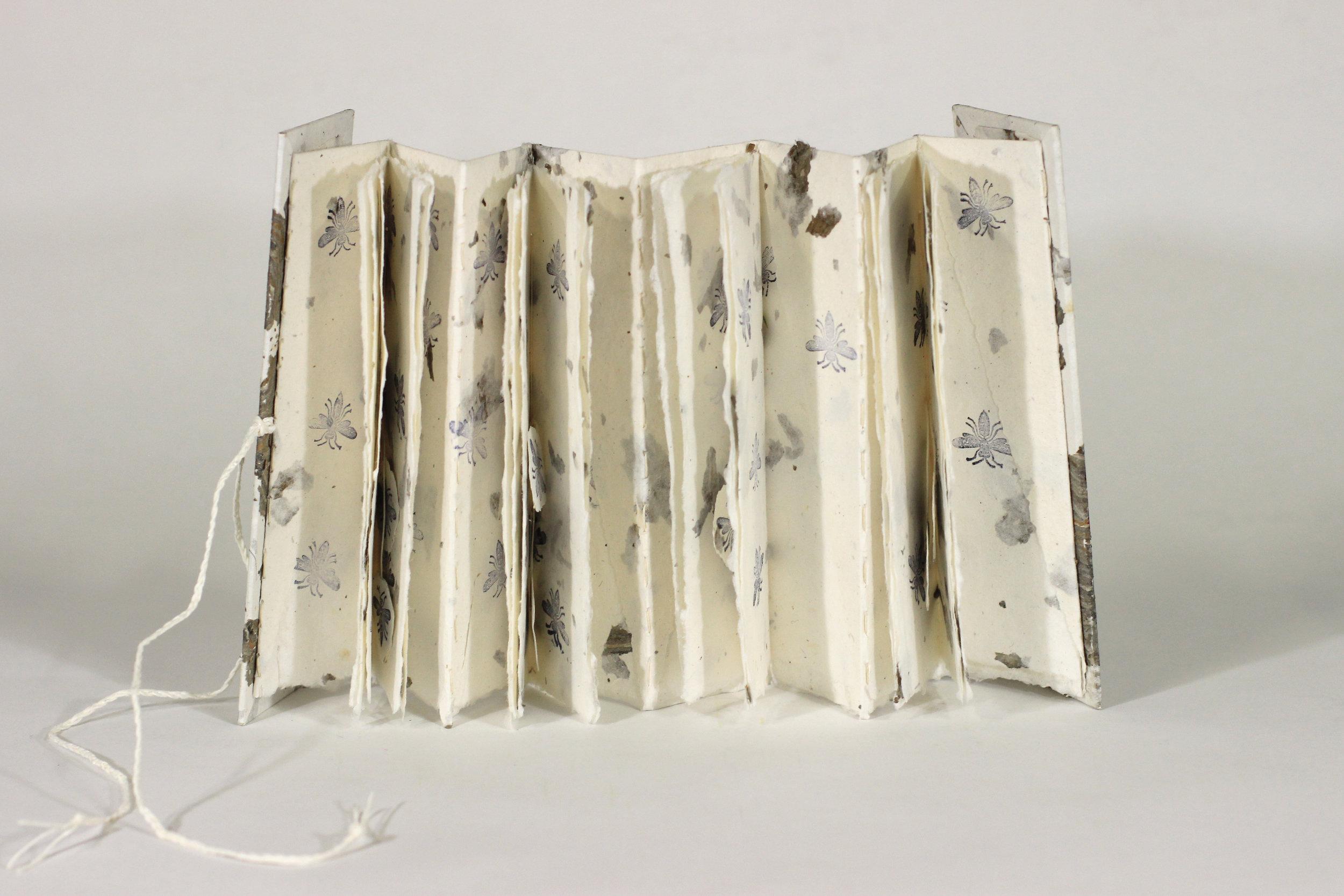 Karen Koykka O\'Neal, Out of Hand Papermaking Studio, Wasps Making Books, Handmade Paper, 2018, $75, Ann Arbor, MI