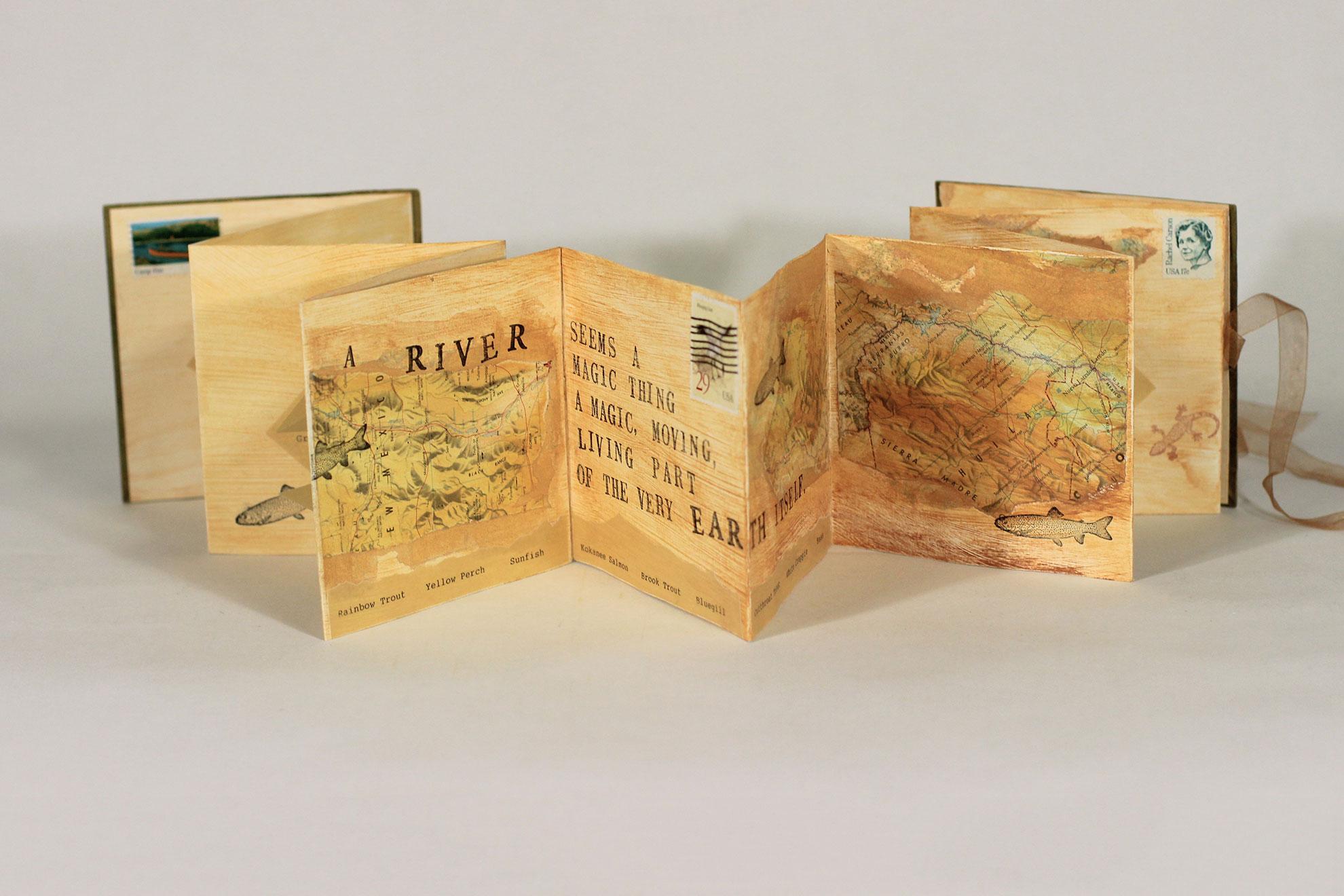 Geri Michelli, River, Mixed media, 2010, Rio Rancho, NM