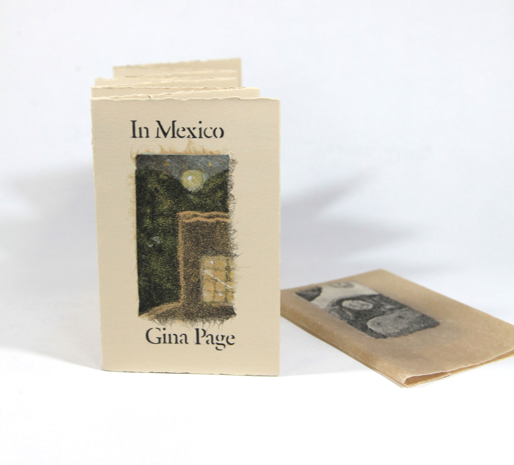 Gina Page, In Mexico, Chine colle aquatints, stenciled art, 2011, $125, Richmond, British Columbia, Canada