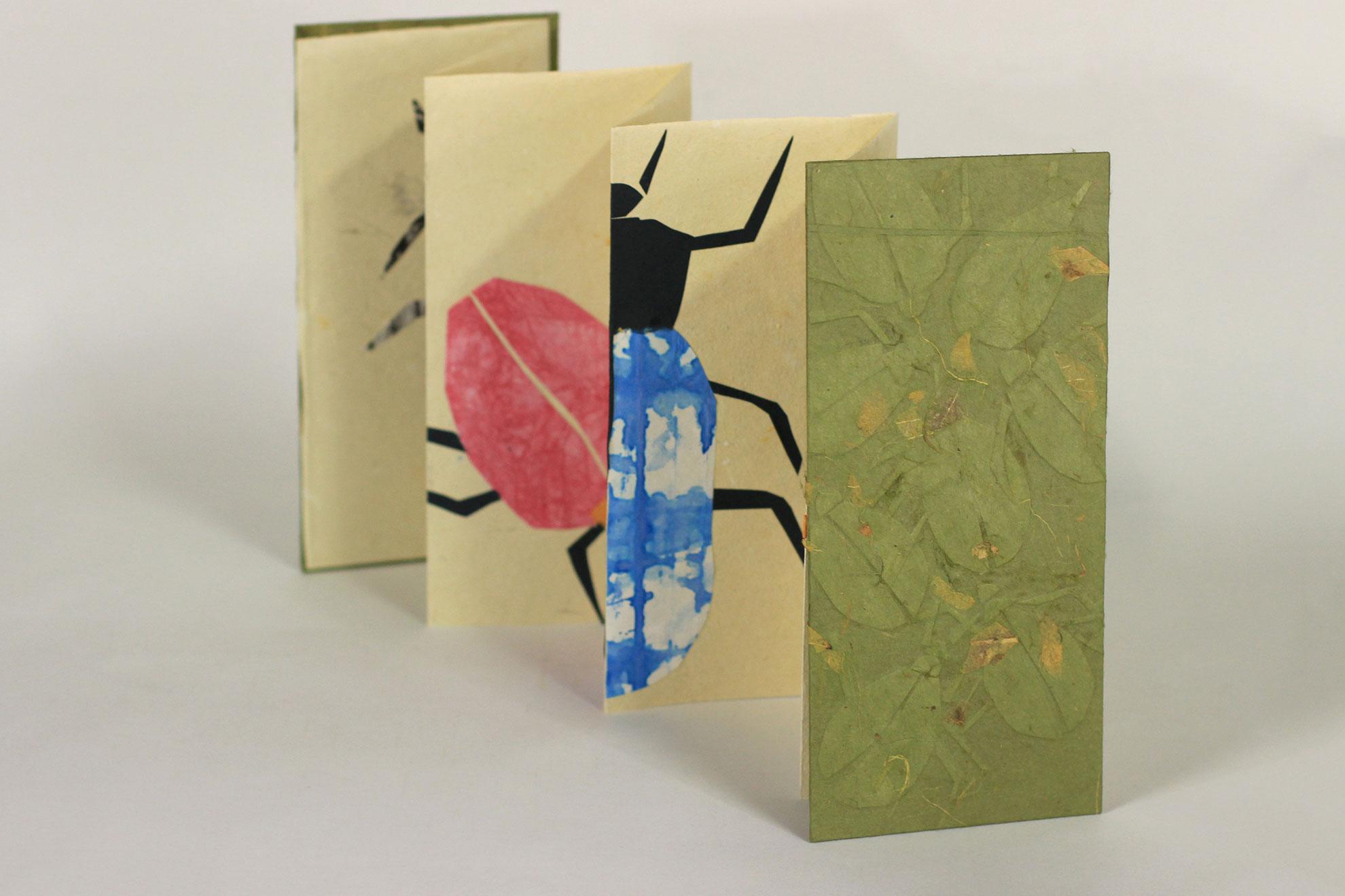 Katie Platte, Beetles, Handmade Papers, 2018, $50, Kalamazoo, MI