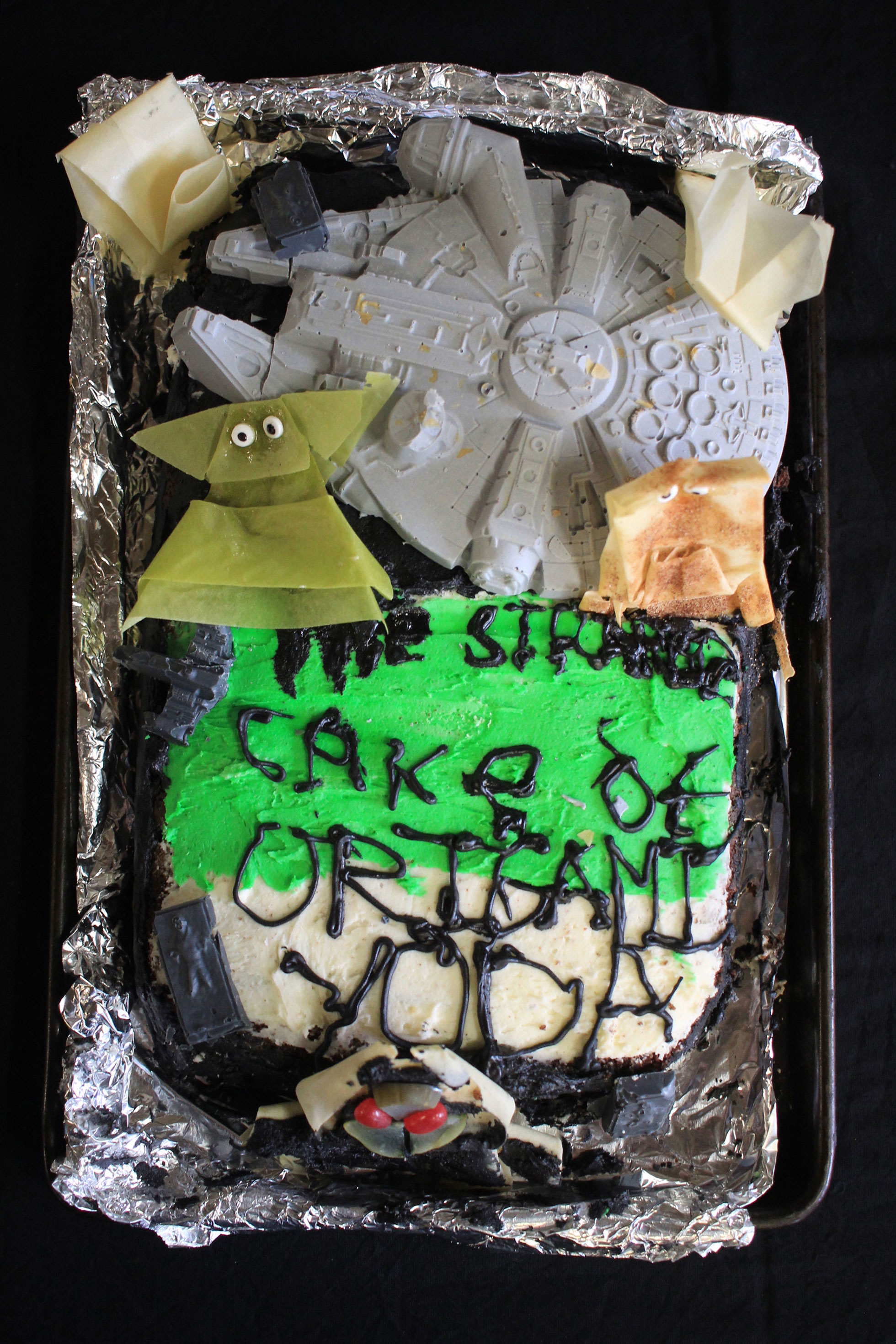 """McLevey and Robbie Strong-Morse, """"the Strange Cake of Origami Yoda"""""""