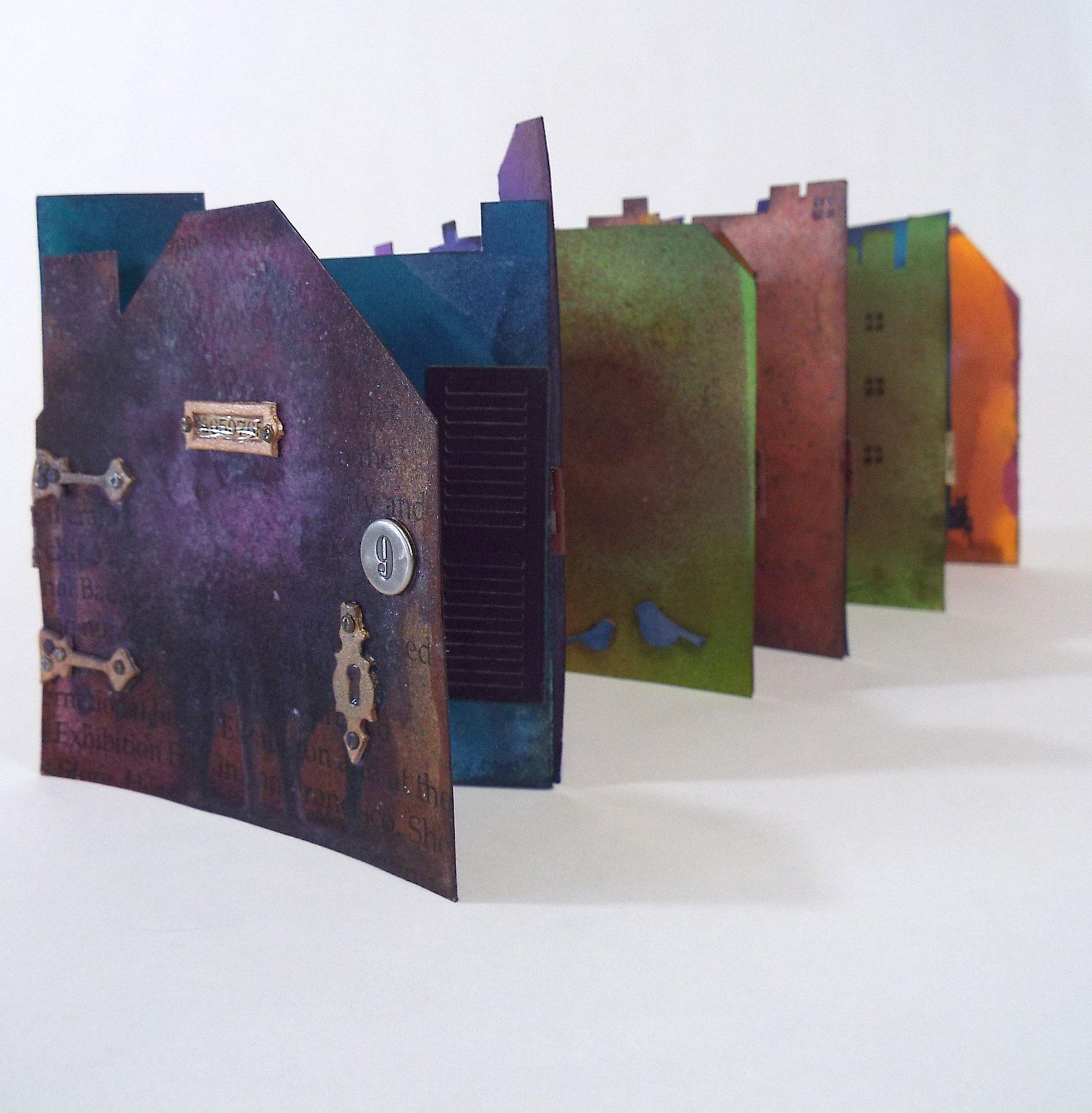 """Jamila Rufaro, """"Cityscape,"""" Mixed Media, 2016, $100, Palo Alto, CA"""
