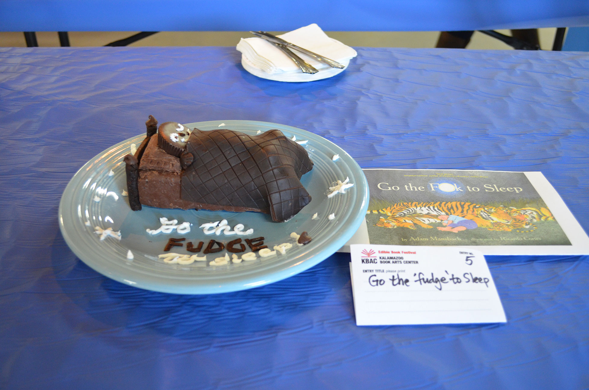 "People Choice: ""Go the 'Fudge' to Sleep"" by Chris Orsolini; 2016 Edible Book"