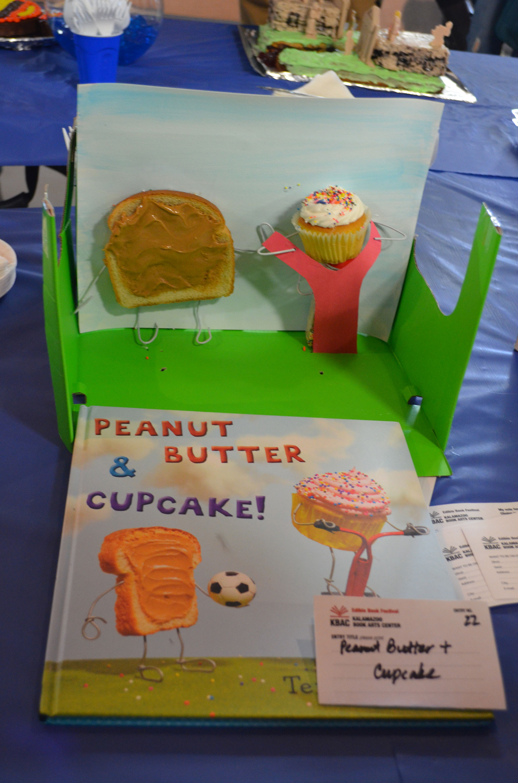 """Peanut Butter and Cupcake"" by Melanie Bryce; 2016 Edible Book"