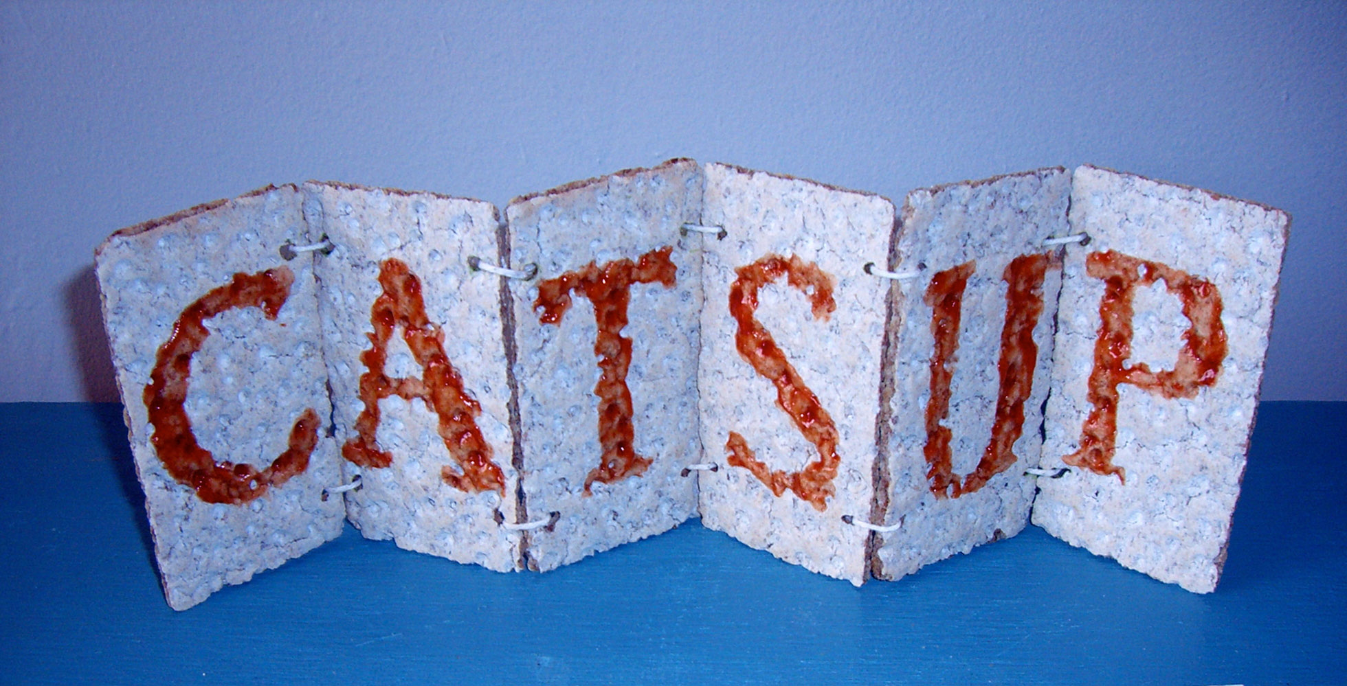 """""""Catsup in the Rye"""" by Jeff Abshear; 2006 Edible Book Festival entry"""