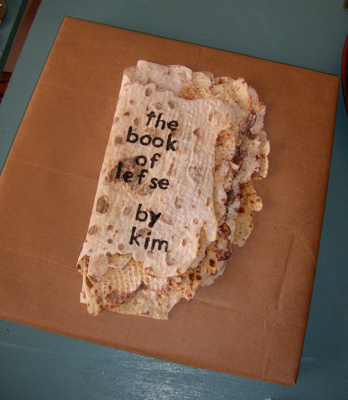 """""""The Book of Lefse"""" by Kim Davison; 2006 Edible Book Festival entry"""