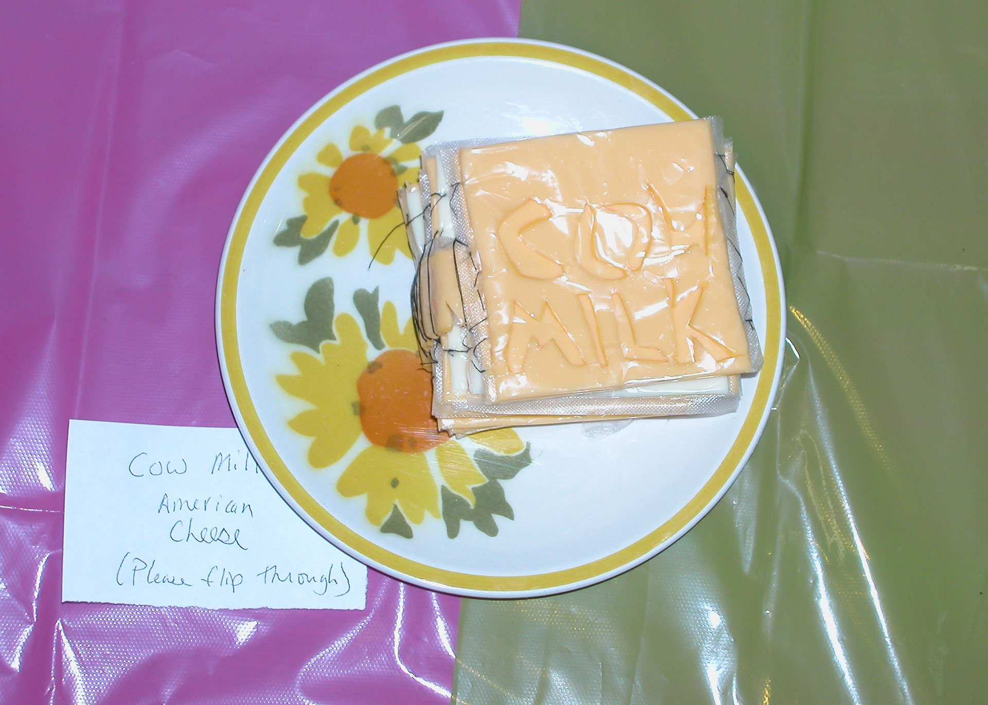"""Cow Milk"" by Katie Platte; 2007 Edible Book Festivall entry"