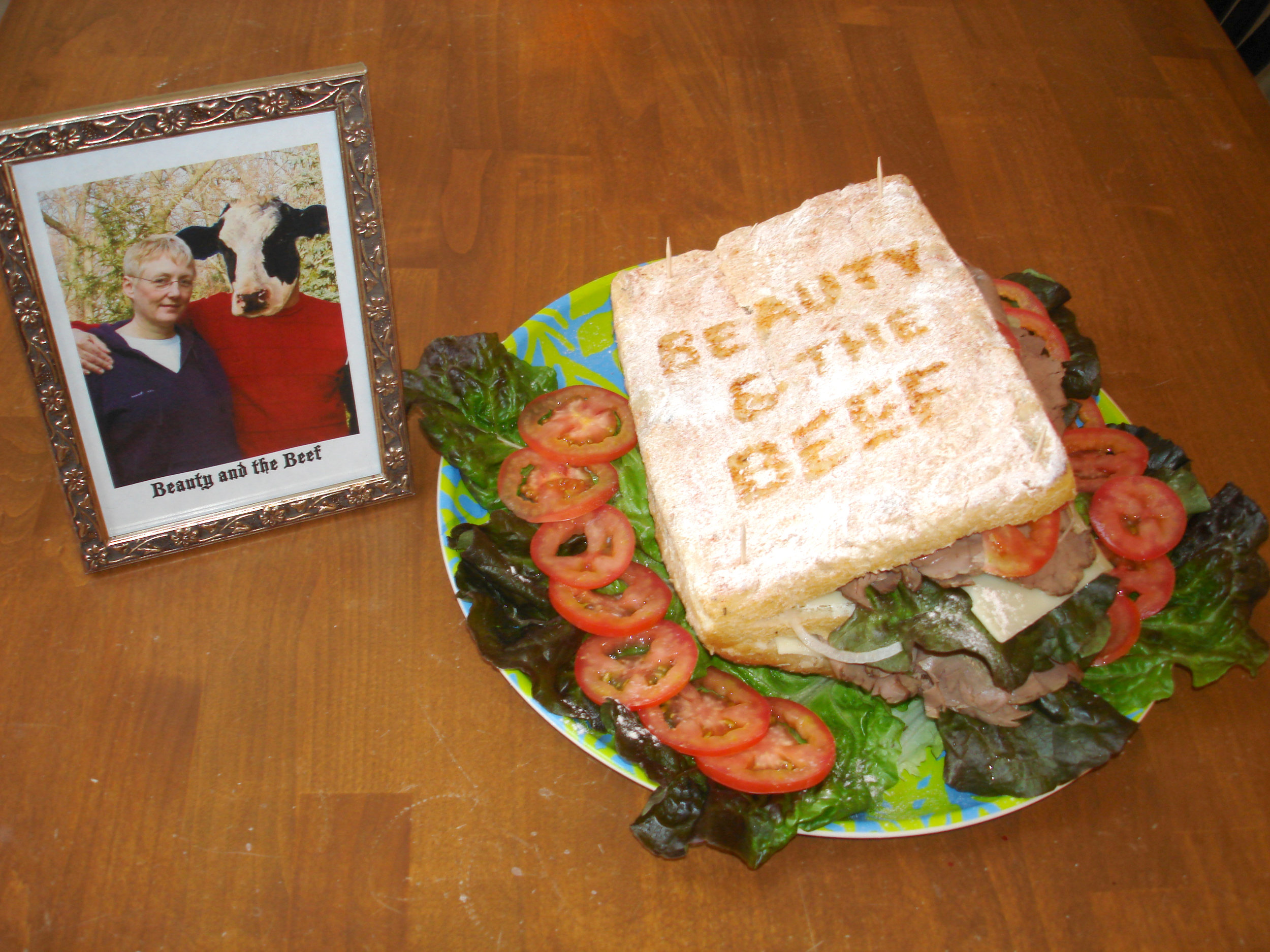 """Beauty and the Beef"" by Liz Faust; 2007 Edible Book Festivall entry"