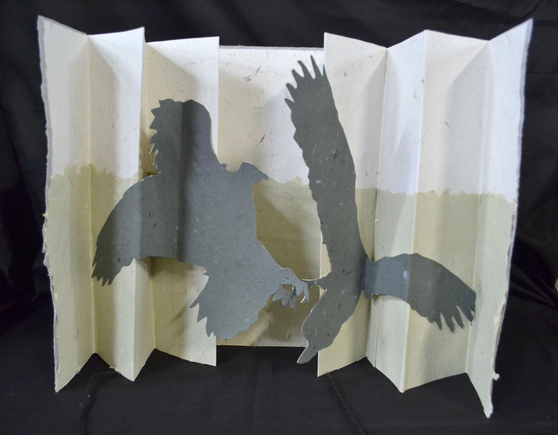 Katie Platte, Dalliance of Eagles, Cut Paper 2016