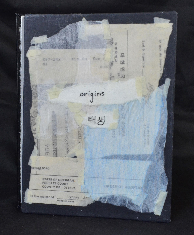 Lynnae Strait, Origins, Tracing paper, Rice paper, Masking tape, Pen, Graphite, Colored Pencil, 2016