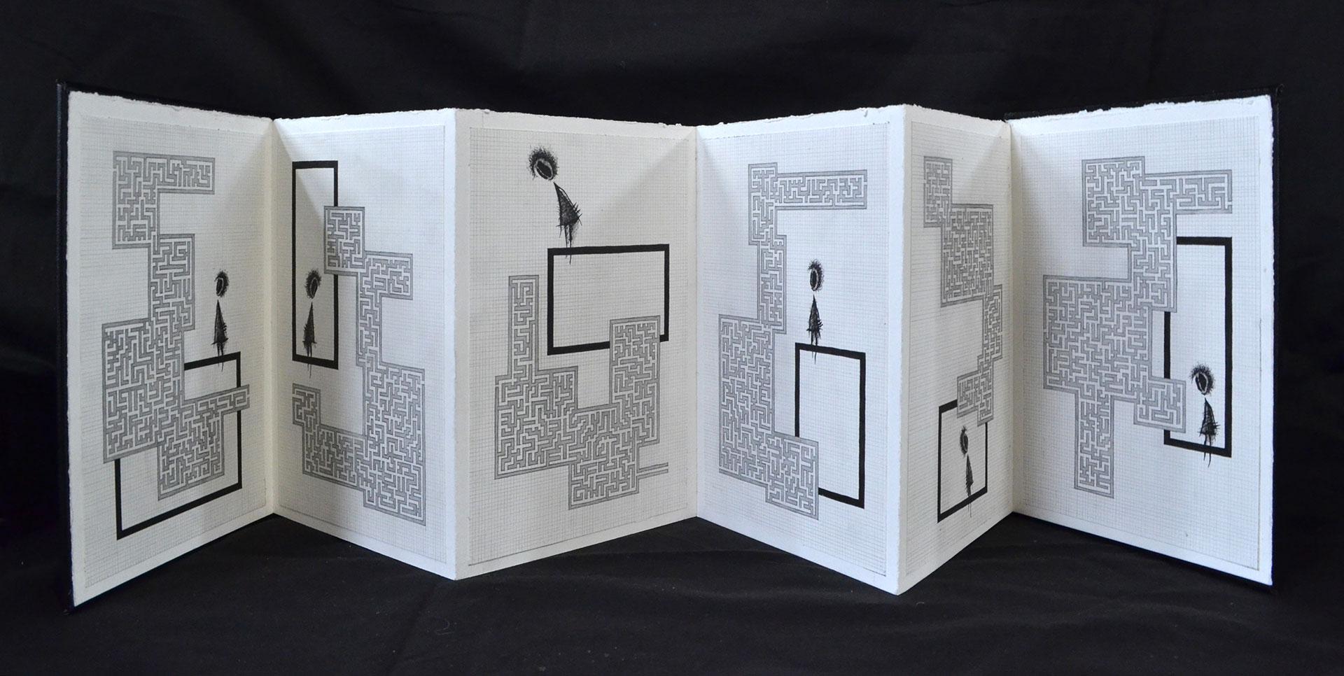 Melina Wilcox, Laberinthine Graphite and pen, 2016