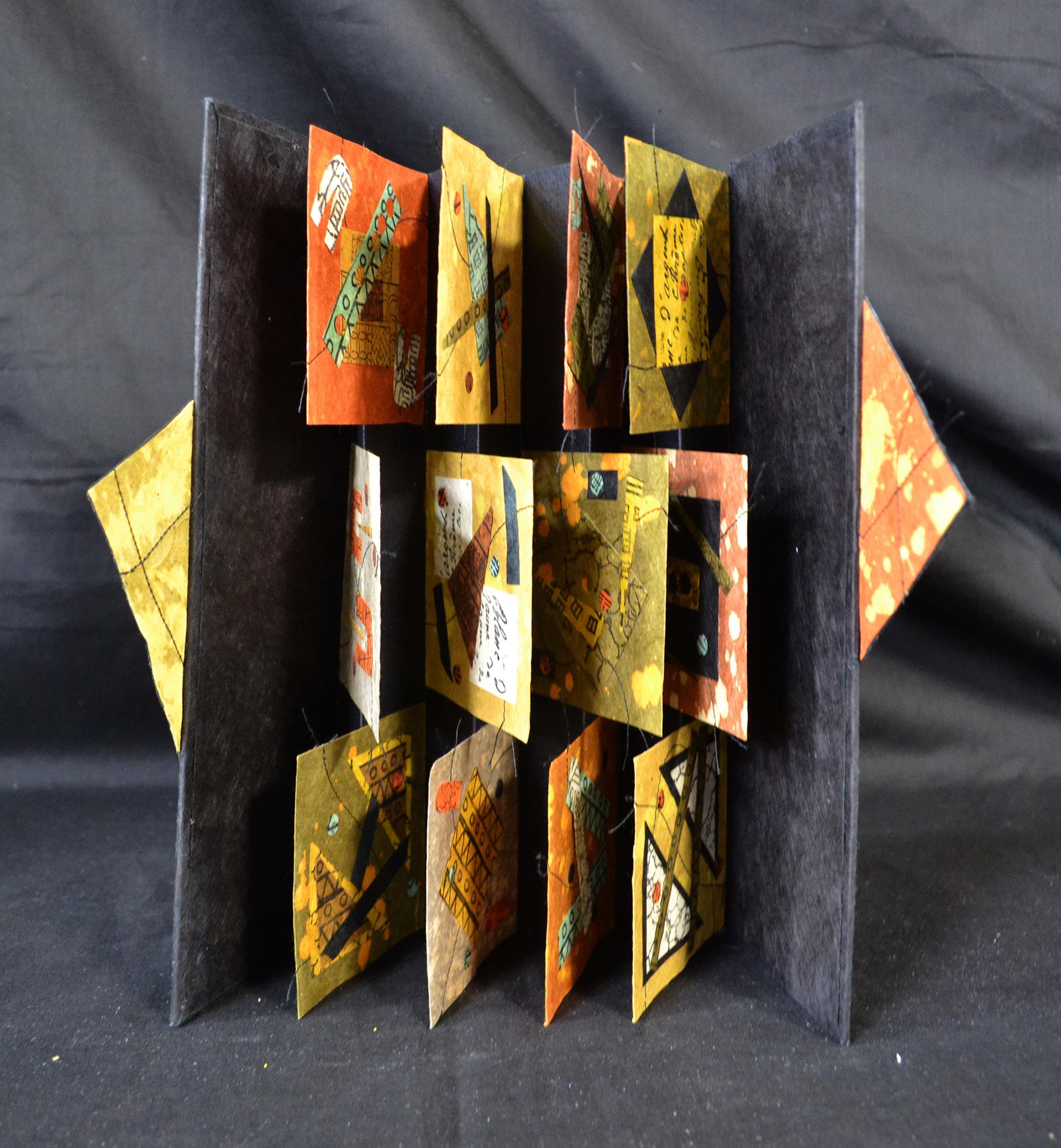 Barbara Buscolari, Patched Quilt, Paper-Book Arts, 2015
