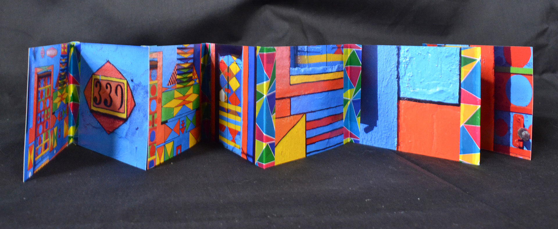 D. Cichon, Bepi\'s House - Burano Italy, Original photos and washi tape, 2016, $25, Mountain View, CA
