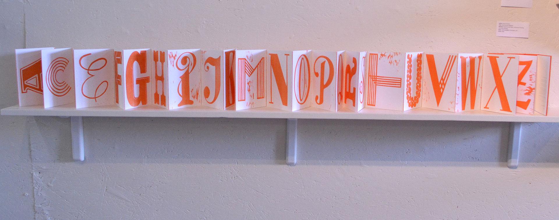 Lauren Emeritz, Hand-Carved Alphabet, Hand-Carved Type, Letterpress Printing, Accordion Binding, 2016