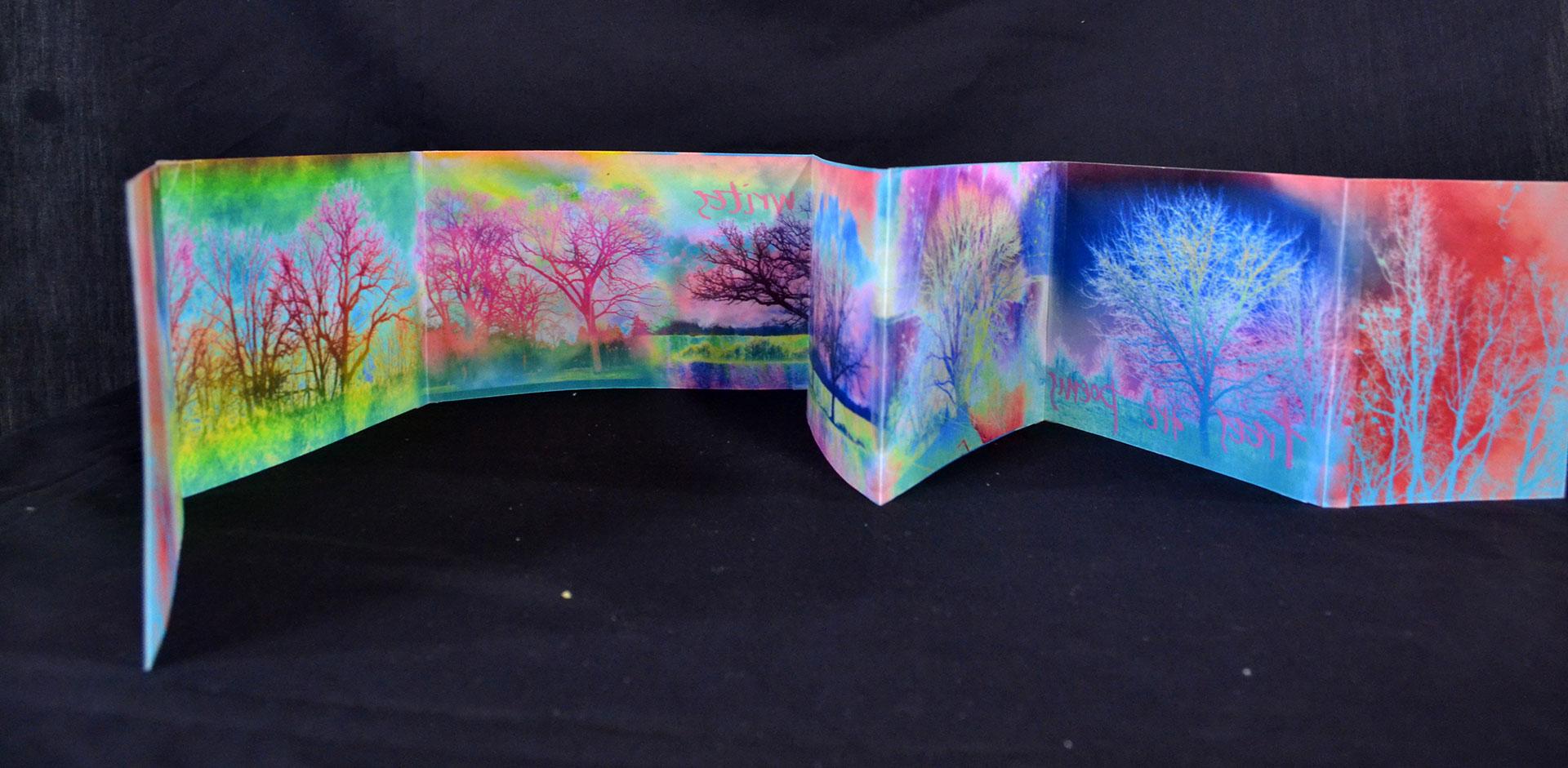 "Elizabeth King, ""Trees are Poems,"" Encaustigraphics, 2015"