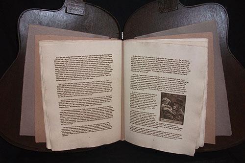 "Book by Ladislav Hanka, Binding by Peter Thomas, ""Remembering Jan Sobota,"" Intaglio printed book, 2014"