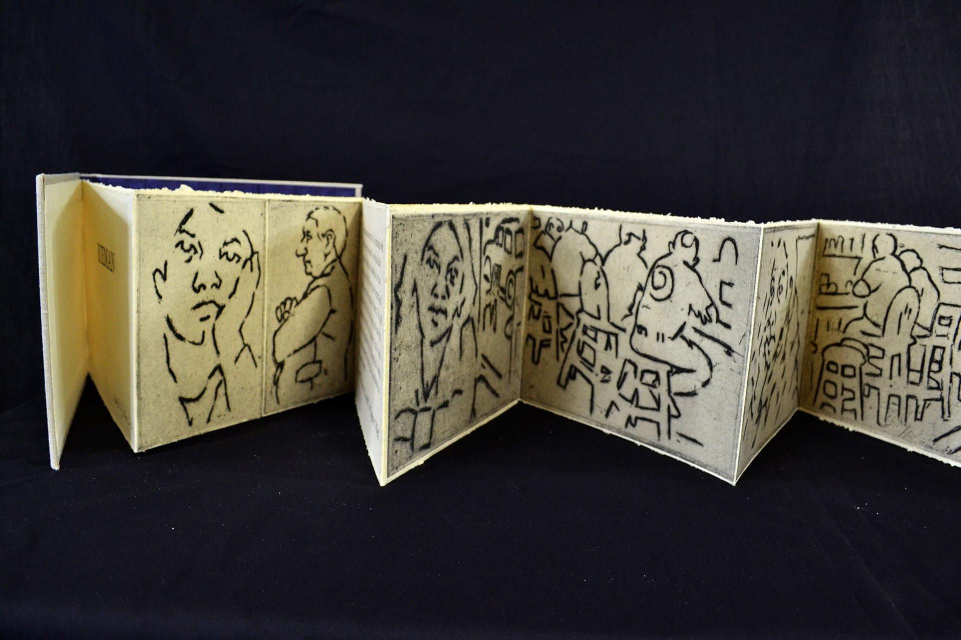 "David Johnson, ""Iceman,""Intaglio and Letterpress, 2014"