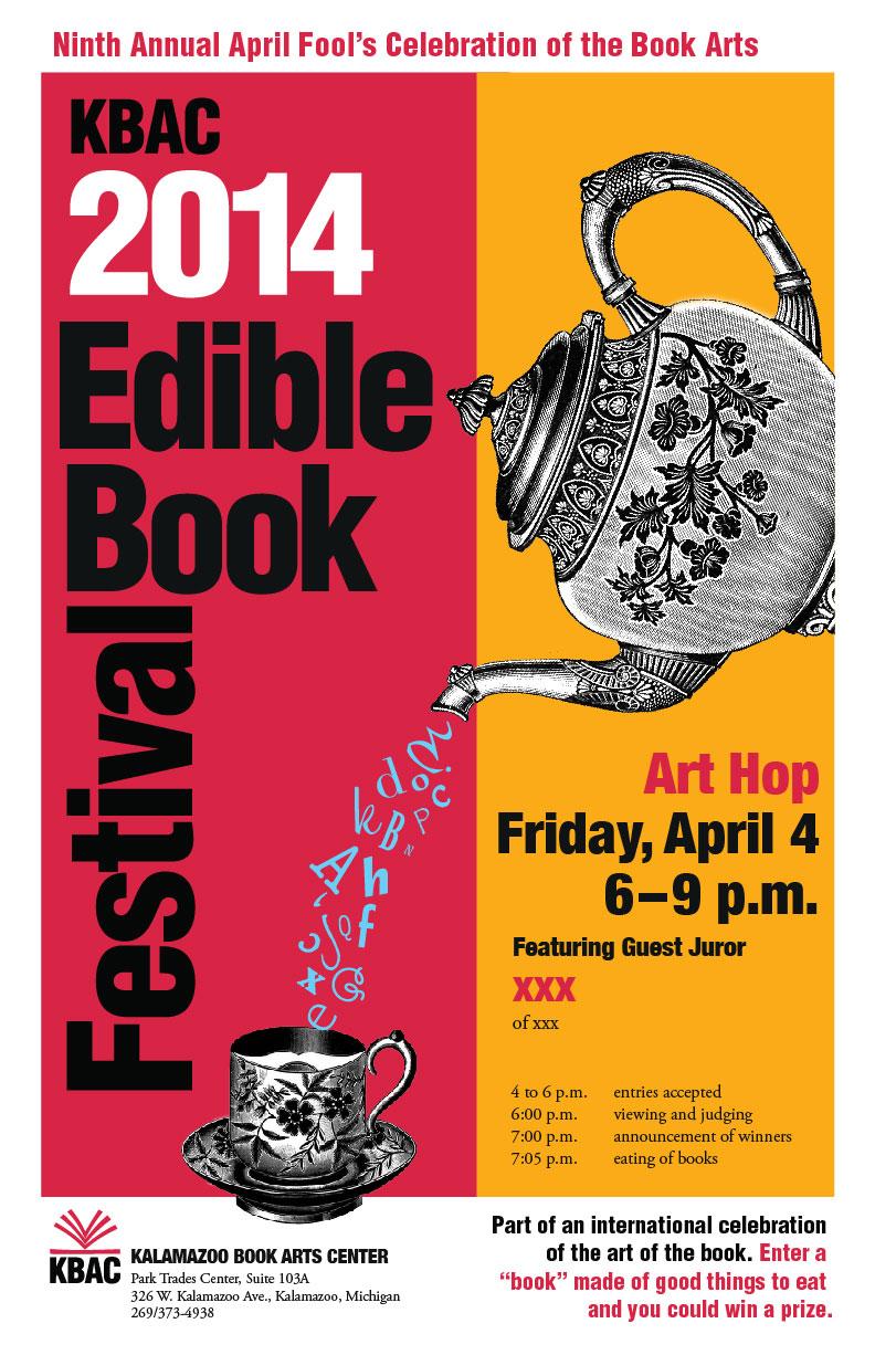 Edible Book Poster designed by Elizabeth King