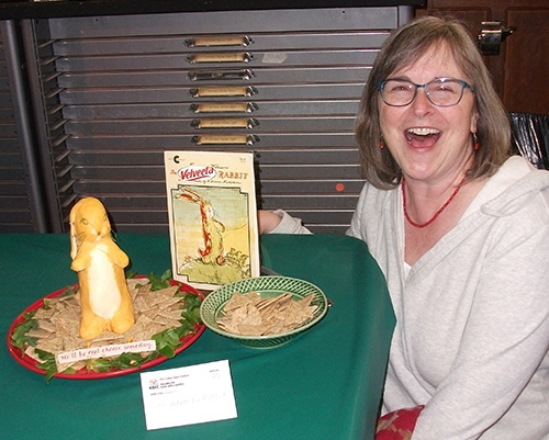 "People's Choice winner Chris Orsolini with her book ""The Velveeta Rabbit"""