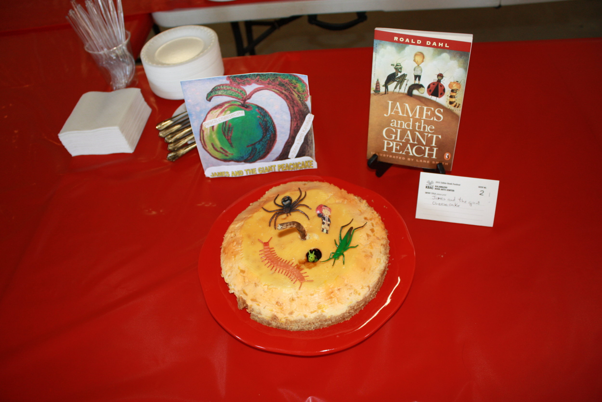 """""""James and the Giant Peach,"""" by Roald Dahl, Created by Beth and John, Edible Book 2012."""